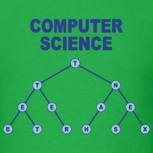 Bright green Binary Search Tree T-Shirts - Men's T-Shirt