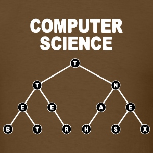 Brown Binary Search Tree T-Shirts - Men's T-Shirt