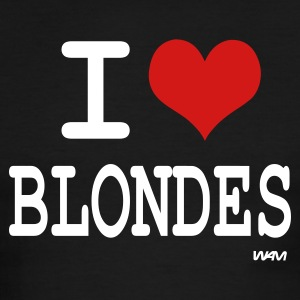 Black/white i love blondes by wam T-Shirts - Men's Ringer T-Shirt