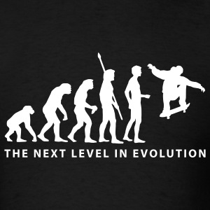 Black evolution_skater_b T-Shirts - Men's T-Shirt