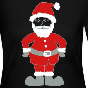 Black Santa Claus Long Sleeve Shirts - Women's Long Sleeve Jersey T-Shirt