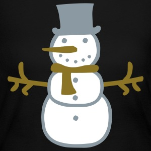 Black Snowman  Long Sleeve Shirts - Women's Long Sleeve Jersey T-Shirt