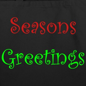 Black seasons_greetings Bags  - Eco-Friendly Cotton Tote