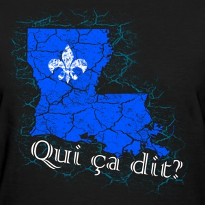 Qui ça dit? (Blue) - Women's T-Shirt