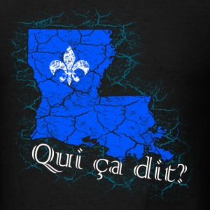 Qui ça dit? (Blue) - Men's T-Shirt