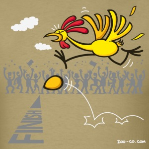 Khaki Chicken and Egg: scrambled forever? T-Shirts - Men's T-Shirt