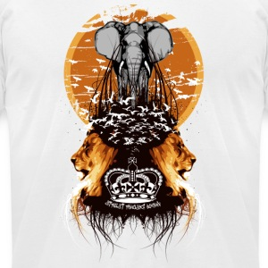 White Elephant, Lions, and Birds Vintage Designer T-shirts T-Shirts - Men's T-Shirt by American Apparel