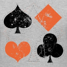 Gray vintage poker playing cards Women's T-Shirts