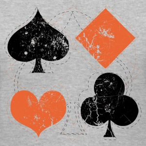 Gray vintage poker playing cards Women's T-Shirts - Women's V-Neck T-Shirt