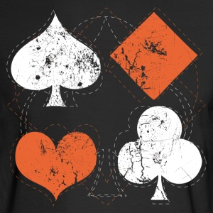 Black vintage poker playing cards Long Sleeve Shirts - Men's Long Sleeve T-Shirt