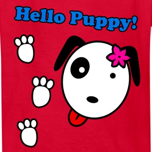 Hello Puppy! Footprint - Kids' T-Shirt