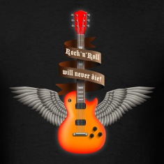 Black rock_guitar_a_red T-Shirts