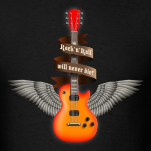 Black rock_guitar_a_red T-Shirts - Men's T-Shirt