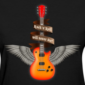 Black rock_guitar_a_red Women's T-Shirts - Women's T-Shirt