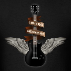 Black rock_guitar_b_black T-Shirts