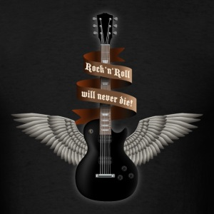 Black rock_guitar_b_black T-Shirts - Men's T-Shirt