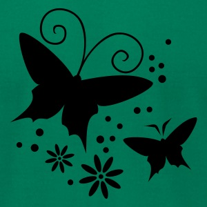 Kelly green butterfly - flowers T-Shirts - Men's T-Shirt by American Apparel