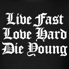 Black live fast love hard T-Shirts