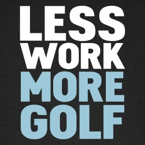 Black less work more golf Caps - Baseball Cap