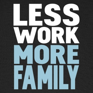Black less work more family Caps - Baseball Cap