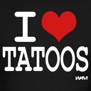 Black/white i love tatoos by wam T-Shirts - Men's Ringer T-Shirt