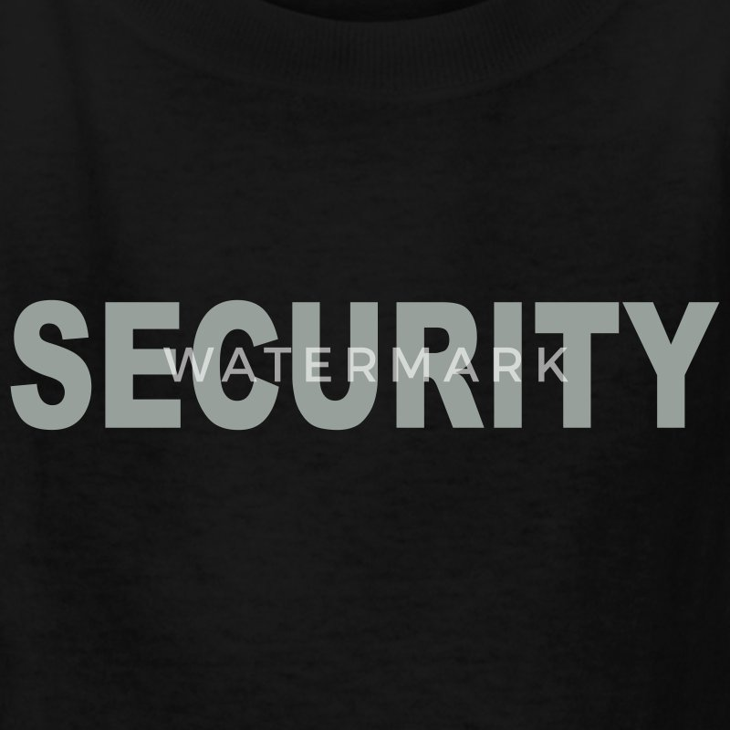 Black Security Kids' Shirts - Kids' T-Shirt