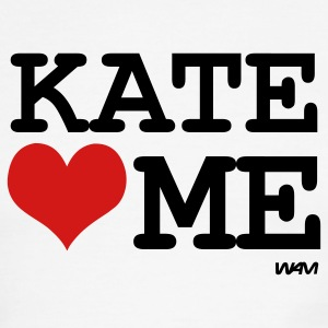 White/black kate loves me by wam T-Shirts - Men's Ringer T-Shirt