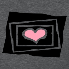 Deep heather Heart In 3 Jagged Frames, Cutouts, 2 Color Women's T-Shirts