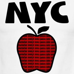 White/red NYC With Big Apple And 5 Boroughs--DIGITAL DIRECT PRINT ONLY T-Shirts - Men's Ringer T-Shirt