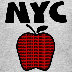 Gray NYC With Big Apple And 5 Boroughs--DIGITAL DIRECT PRINT ONLY Long Sleeve Shirts - Women's Long Sleeve Jersey T-Shirt