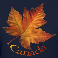 Women's Canada T-shirt Beautiful Maple Leaf Souvenir T-shirts