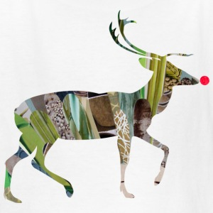 White collage art REINDEER Kids' Shirts - Kids' T-Shirt