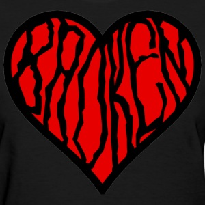 Black Broken Heart Women's T-Shirts - Women's T-Shirt