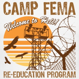 Camp FEMA shirt - Men's Ringer T-Shirt