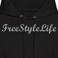 Design ~ Men's Hooded Sweatshirt/Grey Script