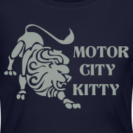 Design ~ Motor City Kitty Women's Long Sleeve Jersey Tee