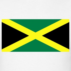 White Jamaican Flag T-Shirts - Men's T-Shirt