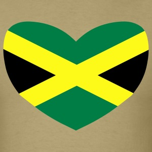 Khaki Love Jamaica T-Shirts - Men's T-Shirt
