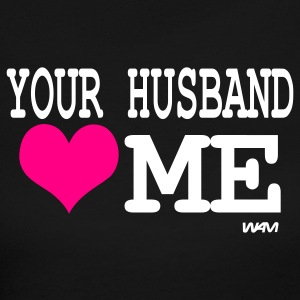 Black your husband loves me by wam Long Sleeve Shirts - Women's Long Sleeve Jersey T-Shirt