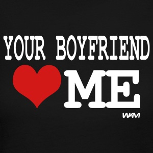 Black your boyfriend loves me by wam Long Sleeve Shirts - Women's Long Sleeve Jersey T-Shirt