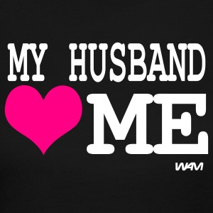 Black my husband loves me by wam Long Sleeve Shirts - Women's Long Sleeve Jersey T-Shirt