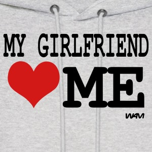 Ash  my girlfriend loves me by wam Hoodies - Men's Hoodie