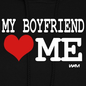 Black my boyfriend loves me by wam Hoodies - Women's Hoodie