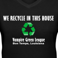 Design ~ Recycle - Black - Womens