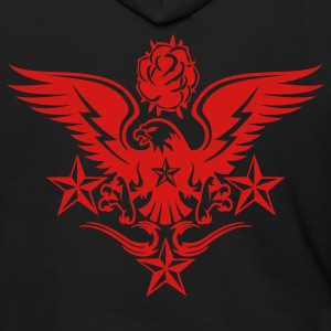 Black Eagle,Rose,and Nautical Star Lightning Tattoo Zip Hoodies/Jackets - Men's Zip Hoodie