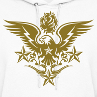 Design ~ Gold Print Womens Designer Tattoo Hoodies For Fall
