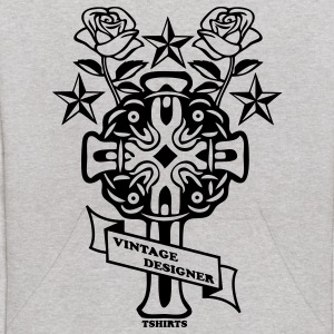 Heather grey tattoo rose cross and nautical star Sweatshirts - Kids' Hoodie