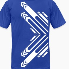 Royal blue New Designer Line art and arrows T-Shirts