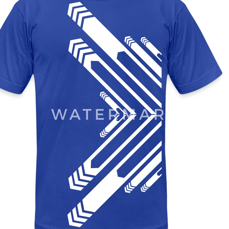 Royal blue New Designer Line art and arrows T-Shirts - Men's T-Shirt by American Apparel