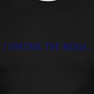 Sky/navy i control the media Men - Men's Ringer T-Shirt